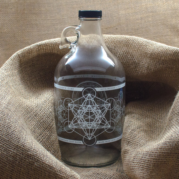 METATRON'S CUBE JUG - 64 OZ. - IN STOCK NOW! - Vibe Bottle