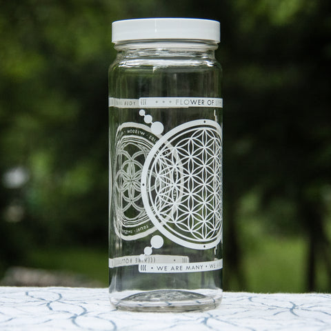 FLOWER OF LIFE JAR 16 OZ - Vibe Bottle