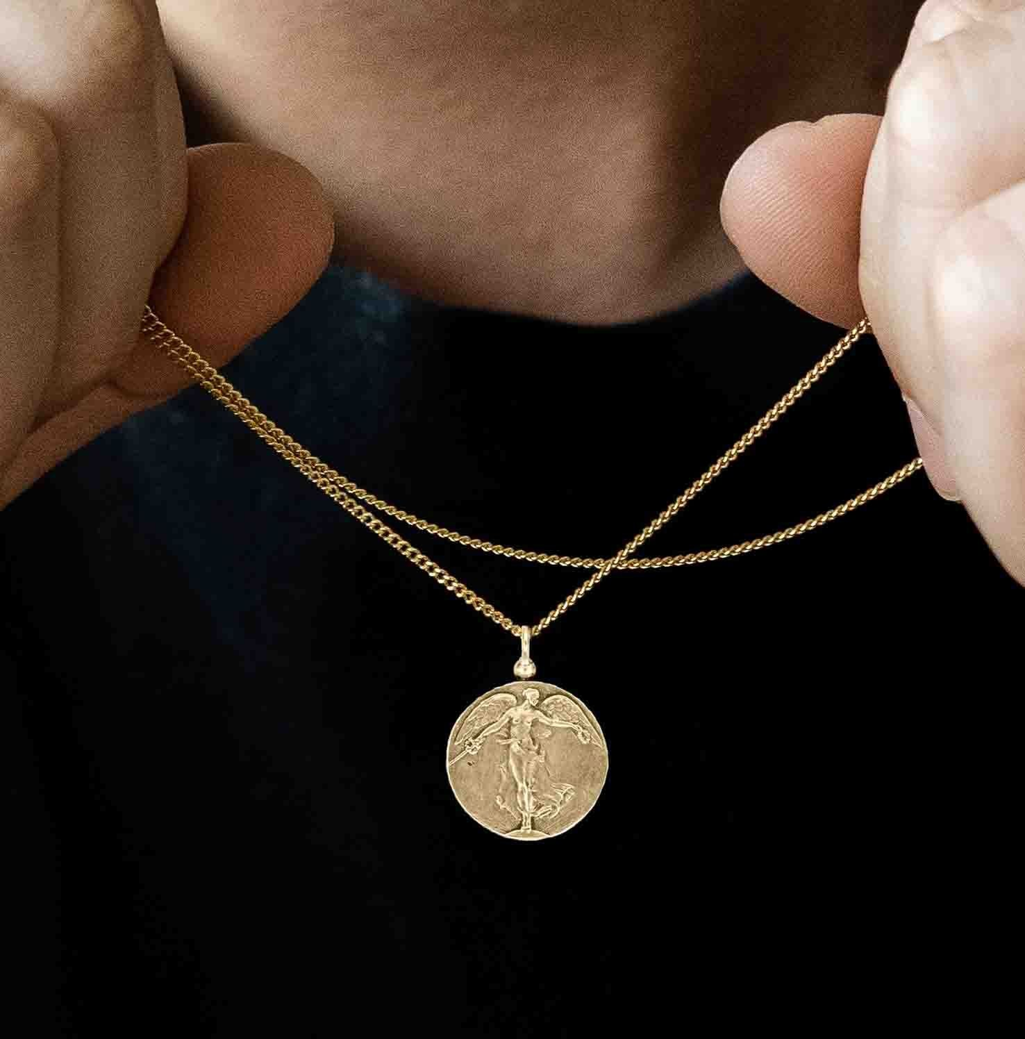 Angel of Mercy Pendant Necklace | Gold