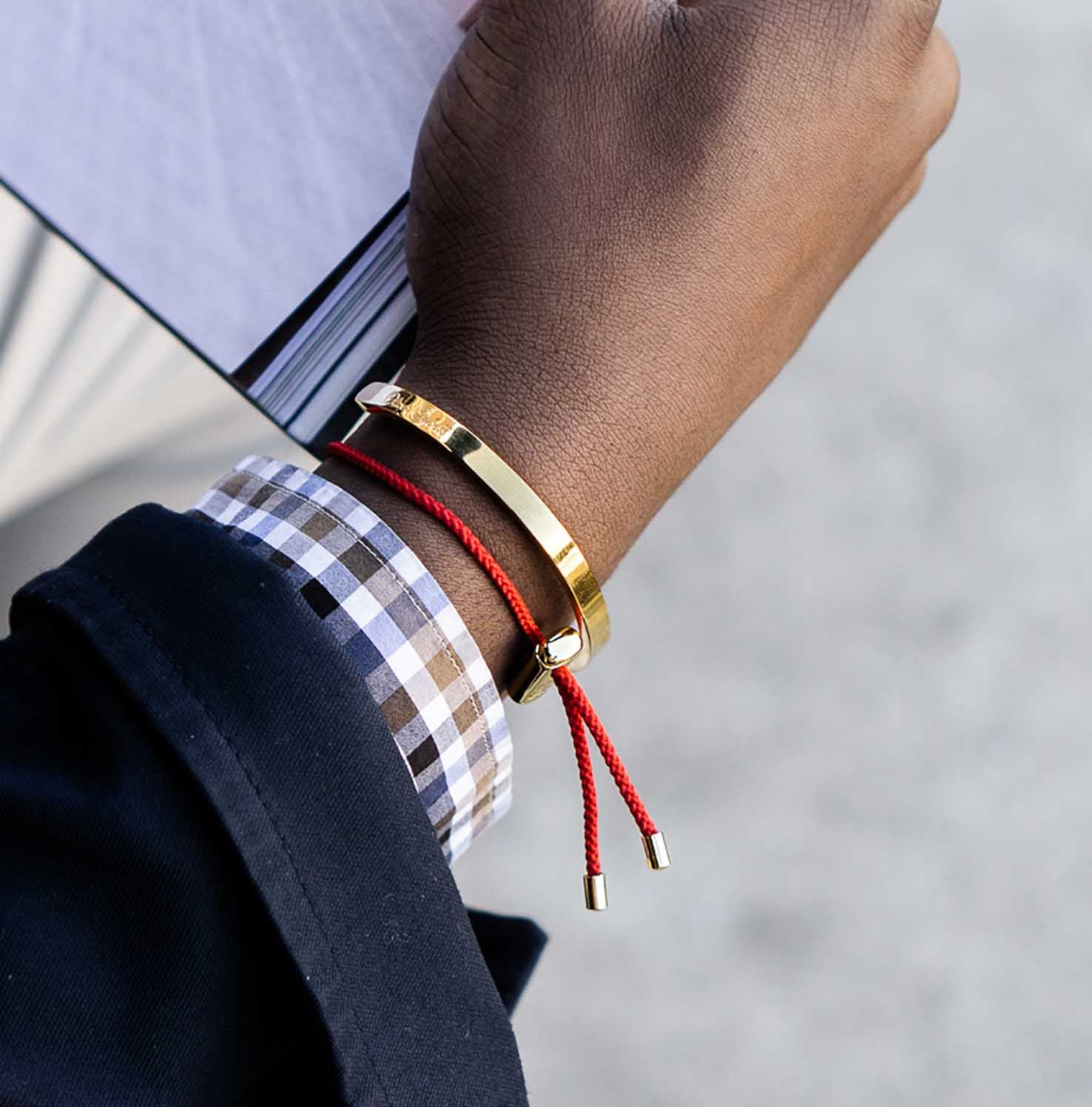 Cameron Cord Bracelet | Red 3