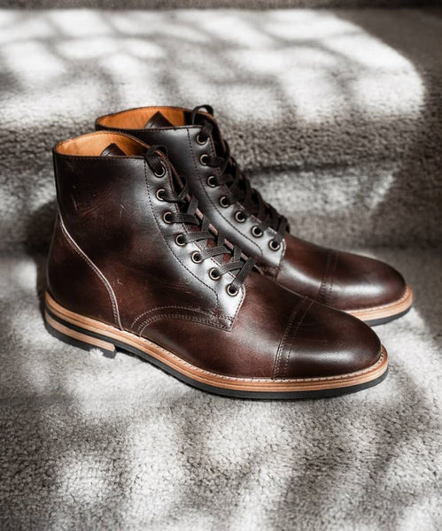 Oliver Cabell Brown Lace Up Service Boots