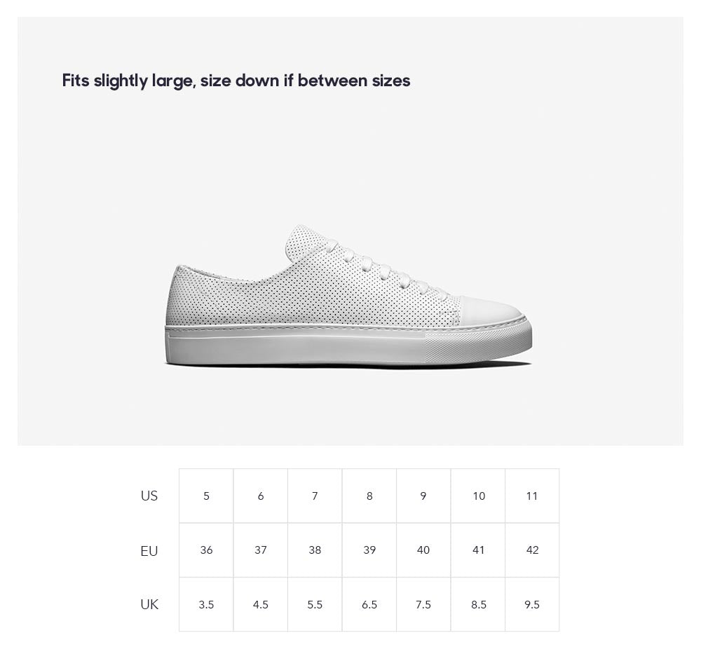 size chart shoes product