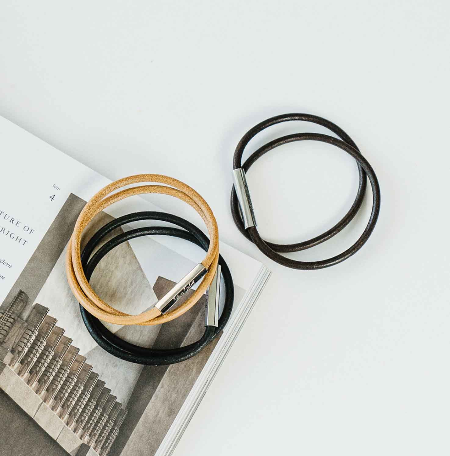 Leather Wrap   Brown 3