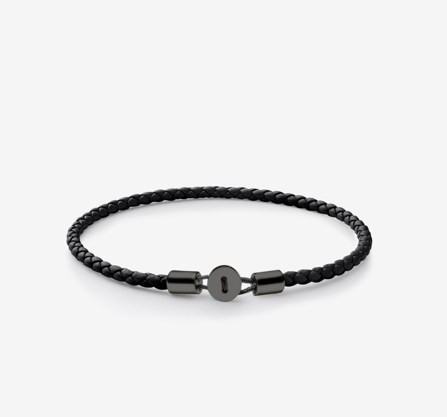 Gordon Leather Bracelet | Black