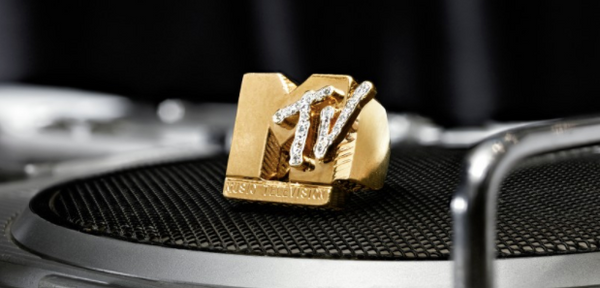 "I WANT MY MTV -FAB 5 FREDDY'S LEGENDARY GOLD AND DIAMOND ""MTV"" RING  GOLD AND DIAMOND RING, CA 1988 On Sale at Soethby's"