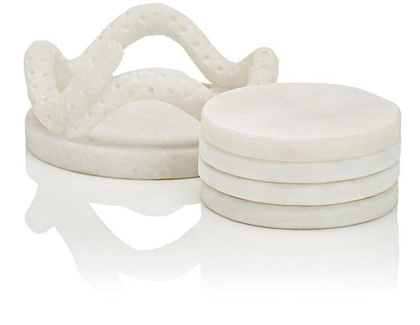 Serpent Marble Coaster Set