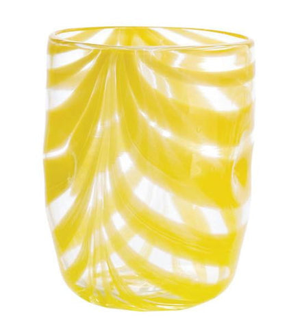Set of Six - Aria - Yellow - Swirl