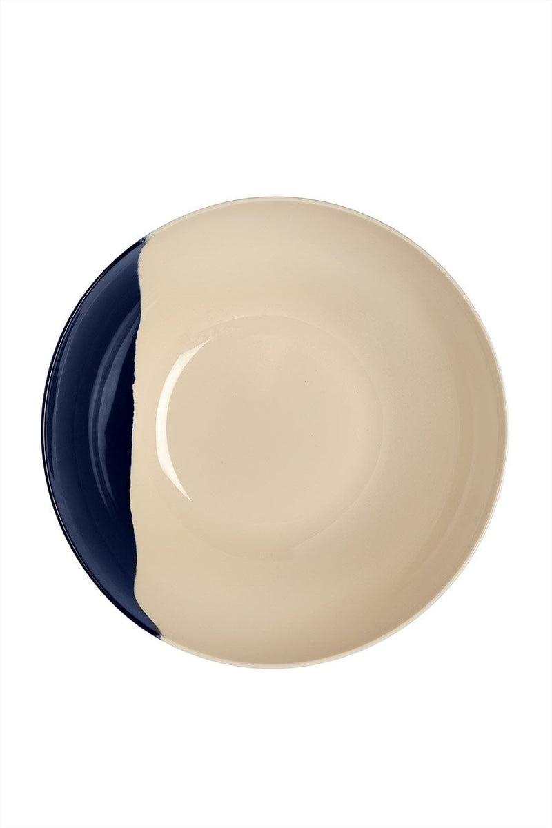 Ivory and Blue Salad Bowl