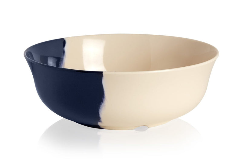 Ivory and Blue Serving Bowl