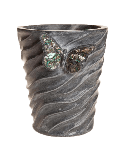 Butterfly Black Marble Champagne Bucket