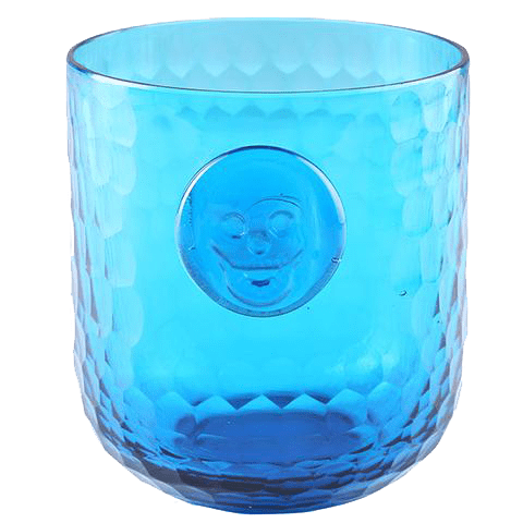 Bonehead Skull Wine Turquoise Glass - Set of 4