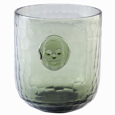 Bonehead Skull Wine Gray Glass
