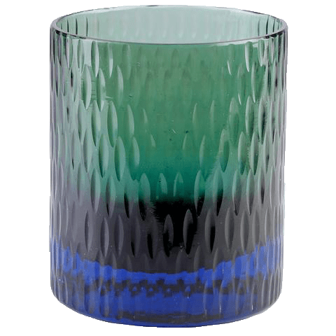 Bottoms Up Glass Turquoise/Sage