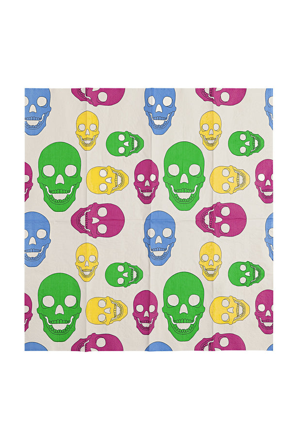 TFC Iconic Skull Multicolored Paper Napkin
