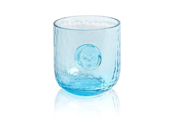 Bonehead Skull Aqua Wine Glass