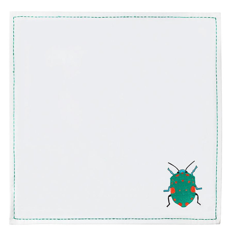 Cloth Embroidered Bug Napkins