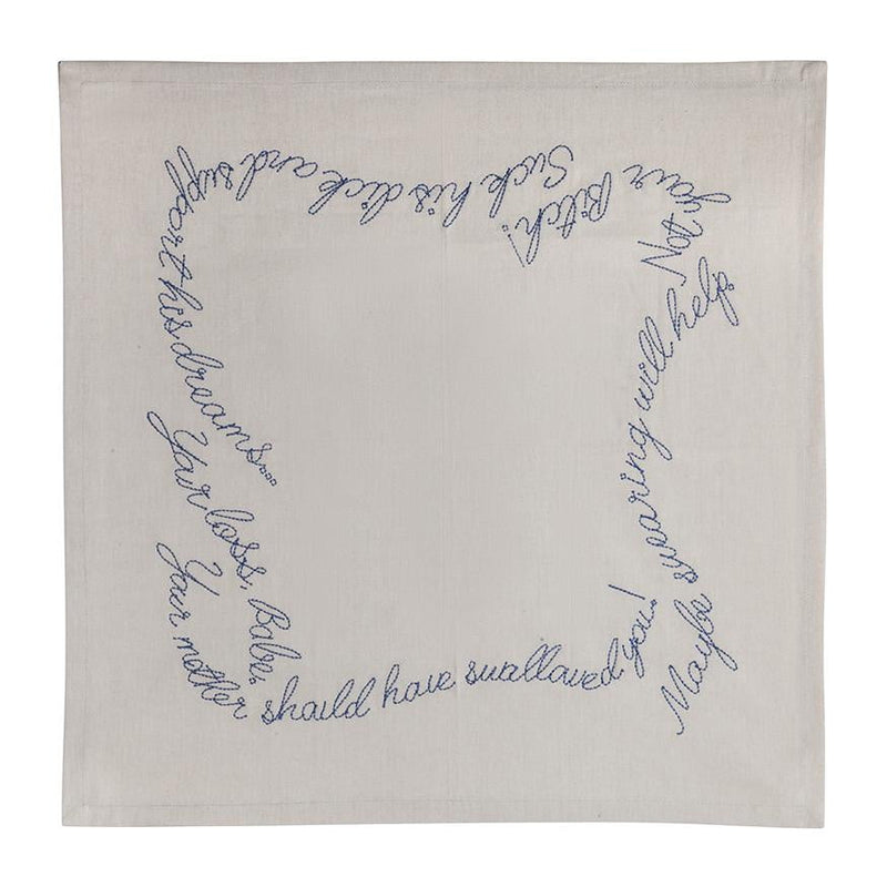 Shut your Mouth Embroidered Cloth Napkins - Ivory