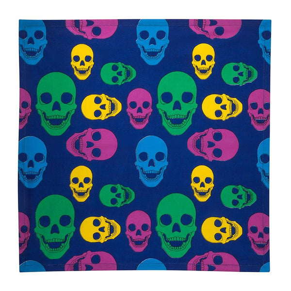 Iconic Skull Cloth Napkin - Multicolored