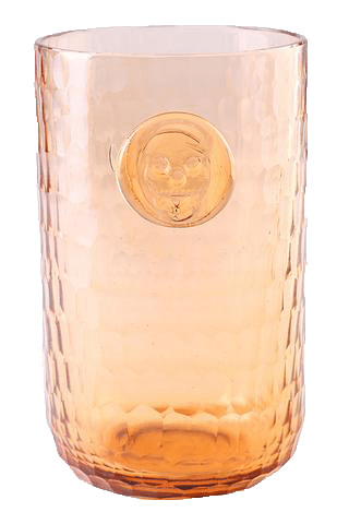 Bonehead Skull Melon Water Glass