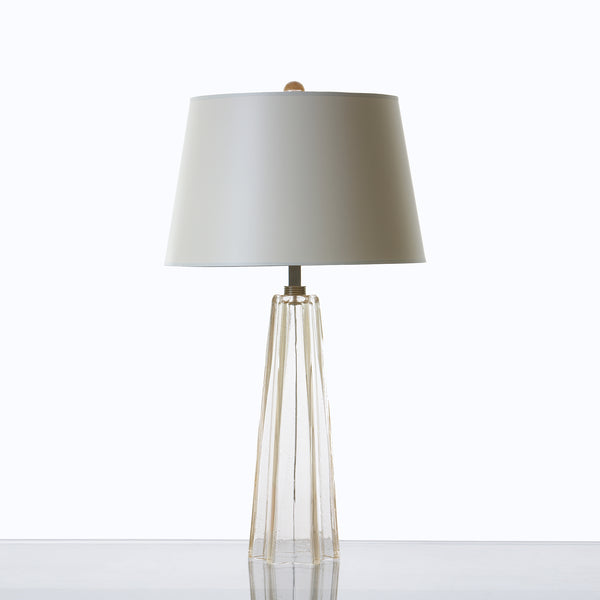 Umbrello Lamp Clear with Gold Leaf