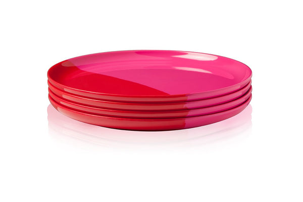 Fuchsia and Red Dinner Plate - Set of 4