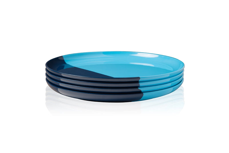 Light Blue and Navy Side Plate - Set of 4