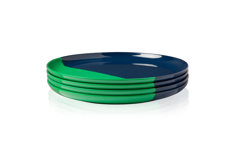 Green and Blue Side Plate - Set of 4