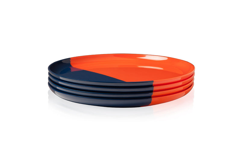 Orange and Navy Side Plate - Set of 4