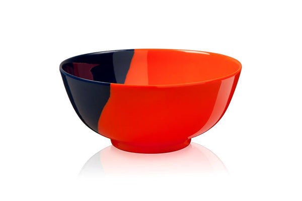 Orange and Navy Bowl - Set of 4