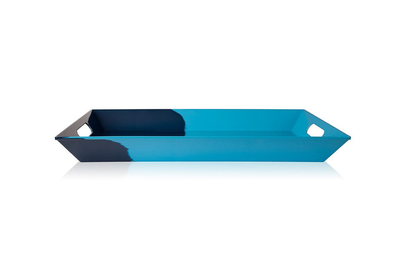 Light Blue and Navy Serving Tray