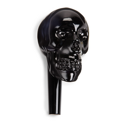 Skull Crystal Bottle Stopper, Black