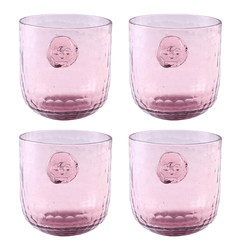 Bonehead Skull Wine Plum Glass - SET OF 4