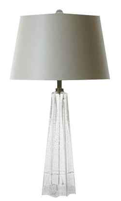 Umbrello Lamp Clear with Silver Leaf
