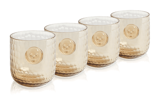 Bonehead Skull Wood Wine Glass