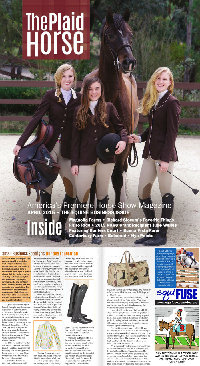 The Plaid Horse- April 2015- The Equine Business Issue