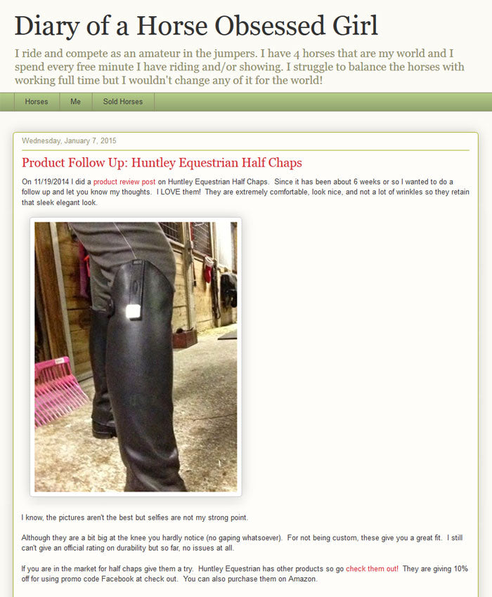 Huntley Equestrian Half Chaps
