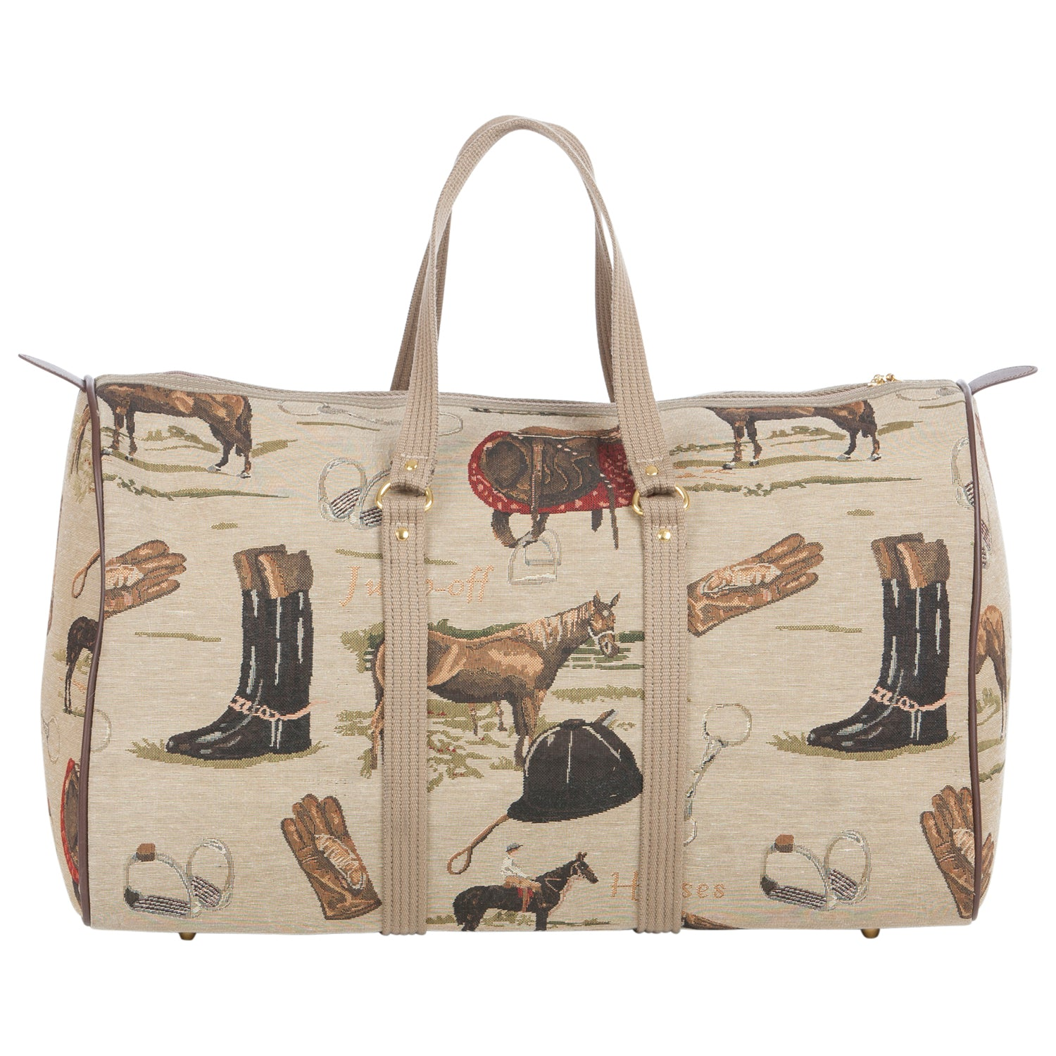 Huntley Equestrian Tapestry Duffle Bag-English Design