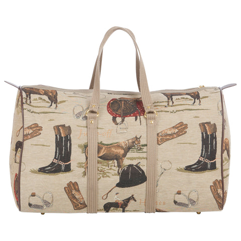 Huntley Equestrian Tapestry Duffle Bag
