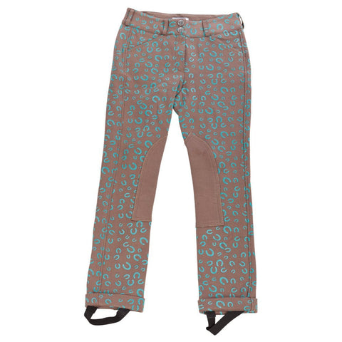 Daisy Clipper Children's Brown Horse Shoe Riding Pants - Huntley Equestrian