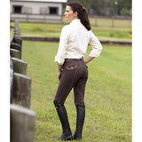 Huntley Equestrian Brown Riding Pant With Tan Welt Pockets - Huntley Equestrian