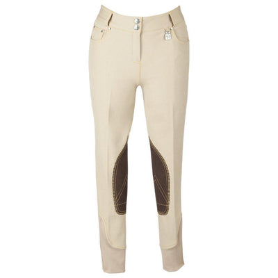 Huntley Equestrian Beige Riding Pant With Back Snap Pockets SPORTING_GOODS Huntley Equestrian 24