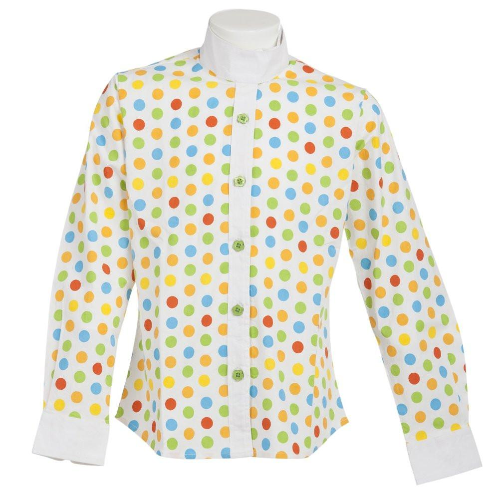 Daisy Clipper Children's Polka Dot Long Sleeve Riding Shirt SPORTING_GOODS Huntley Equestrian