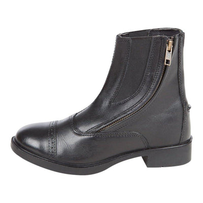 Daisy Clipper Children's Side Zipper Premium Leather Paddock Boots Horse Riding Boots, Black SPORTING_GOODS Huntley Equestrian