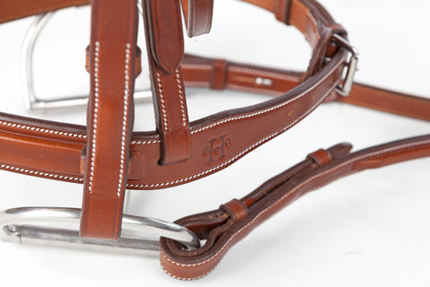 "Huntley Equestrian Sedqwick Leather 1/2"" inch width Cheek Pieces (Qty 2)"