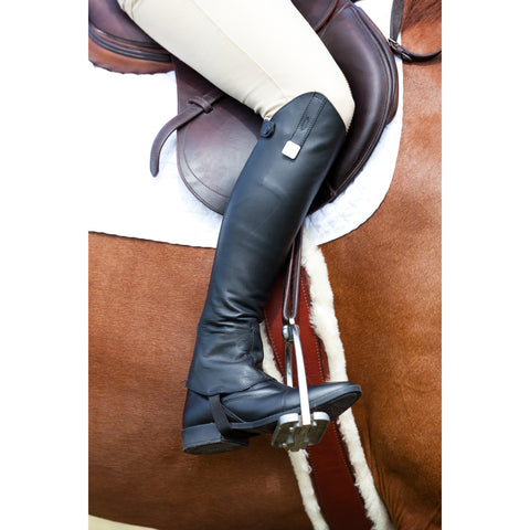 Huntley Equestrian Custom Fit Premium Leather Half Chaps - Huntley Equestrian
