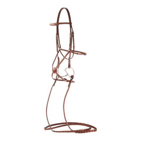 Huntley Equestrian Sedgwick Fancy Stitched Square Raised Figure 8 Bridle and Laced Reins