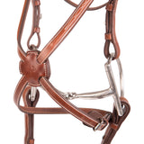 Huntley Equestrian Sedgwick Fancy Stitched Square Raised Figure 8 Bridle and Laced Reins - Huntley Equestrian