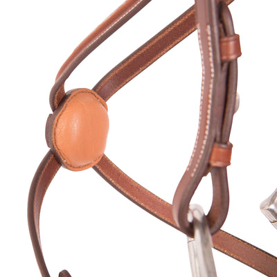 Huntley Equestrian Sedgwick Fancy Stitched Square Raised Figure 8 Bridle - Huntley Equestrian