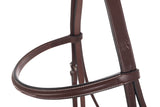 Huntley Equestrian Sedgwick Fancy Stitched Square Raised Hunter Horse Bridle with Reins - Huntley Equestrian