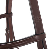 Huntley Equestrian Sedgwick Fancy Stitched Square Raised Hunter Bridle with Reins - Huntley Equestrian